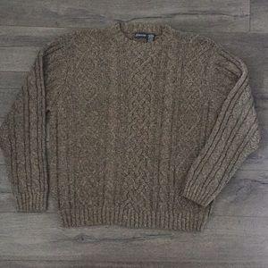 St Johns Bay Mens Crew Neck Fisherman's Sweaters